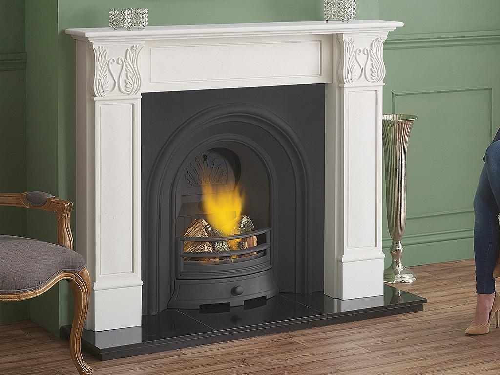 Carisbrooke Stone Fireplace Mantel Luxury Surround