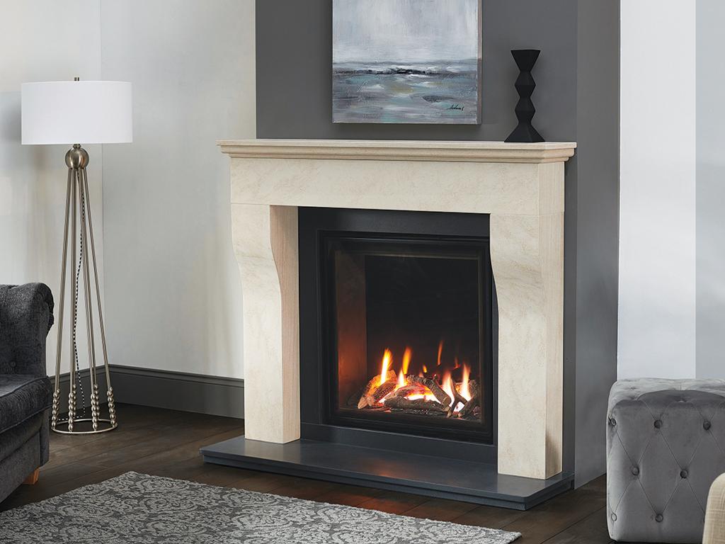 Cottage Corinthian Stone Fireplace Mantel Luxury