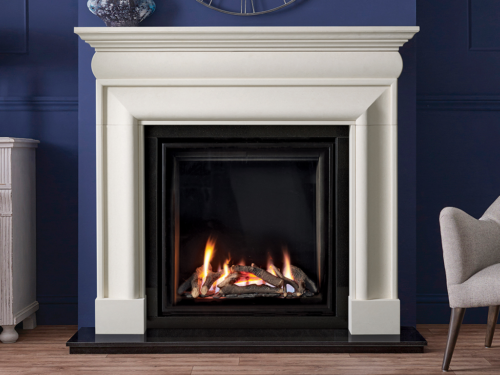 Hampton Stone Fireplace Mantel Luxury Surround From