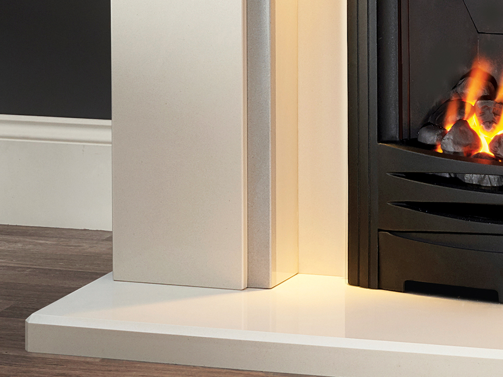 The Faro 48 Urban Grey Fireplace Suite From Capital