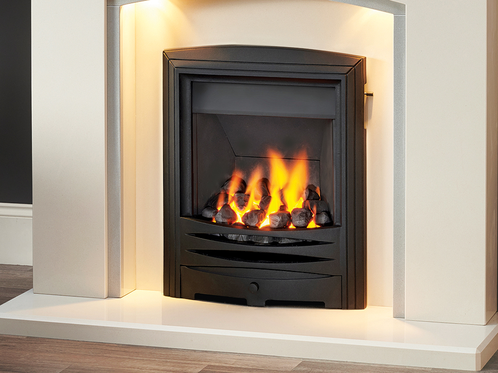 Stratos Inset Gas Fire Hearth Mounted Gas Fire Capital