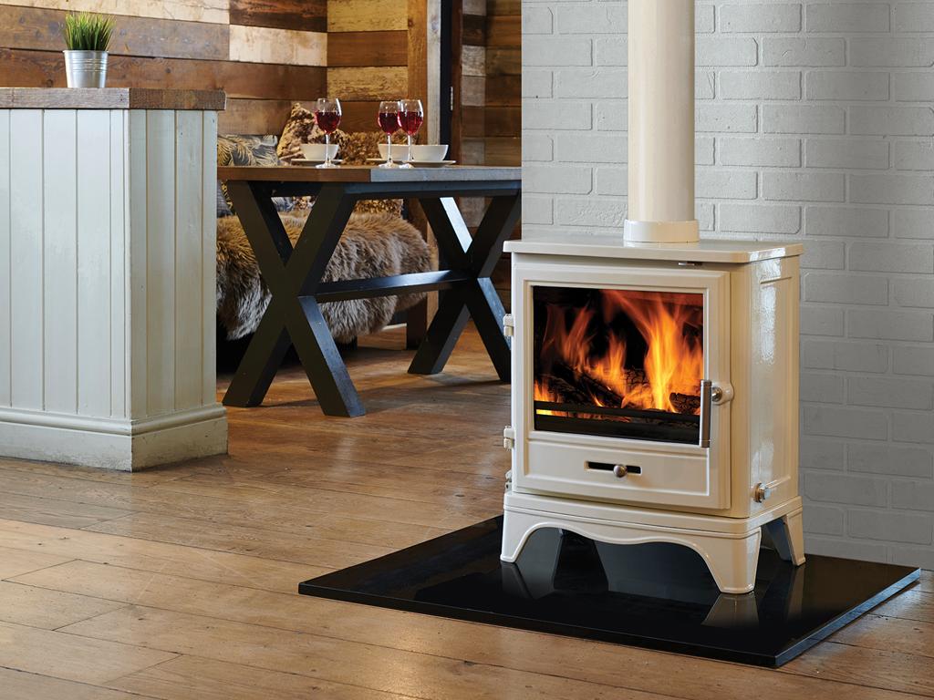 Bassington Eco Skirted Enamel Capital Fireplaces