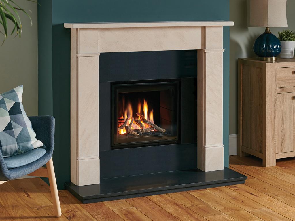 Hersham Corinthian Stone Fireplace Mantel Luxury