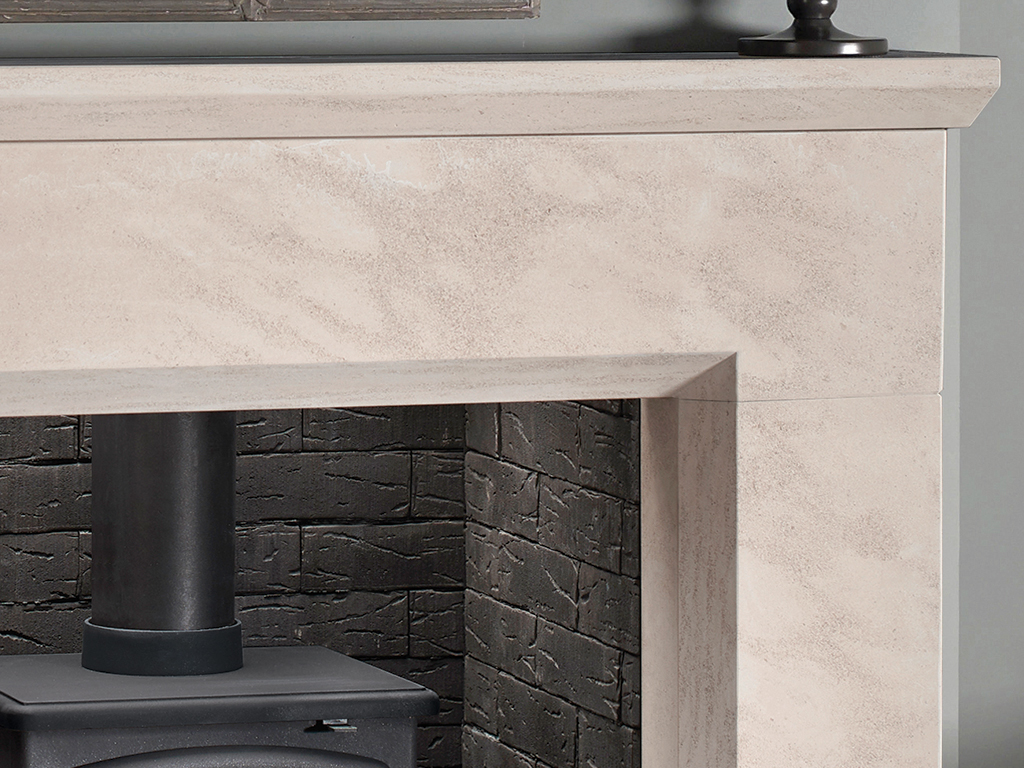Parrona 48 Mantel Stone Fireplace From Capital